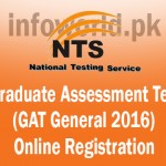 Graduate Assessment Test GAT 2016-II Online Registration