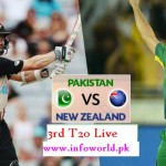 Pak vs New Zealand 3rd T20 22nd Jan live Streaming