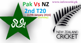 Pakistan vs New Zealand 2nd T20 17th Jan live streaming