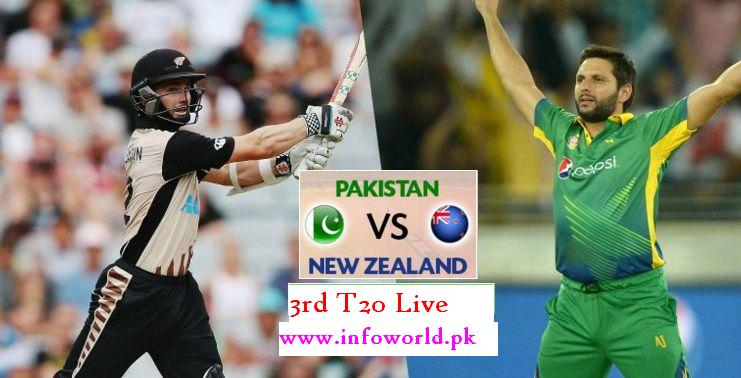 Pakistan vs New Zealand (PAK vs NZ) 3rd T20 Match Live