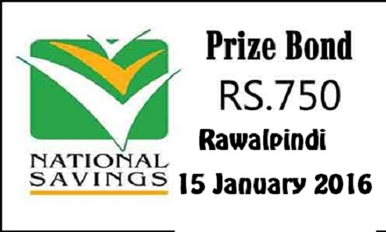 Prize Bond Draw Rs 750 Rawalpindi 15th Jan 2016 List