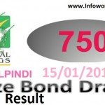 Rs 750 Prize Bond Rawalpindi Result 15th January 2016