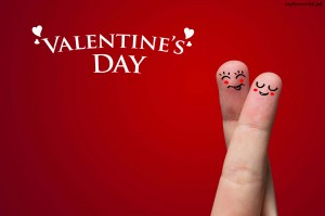 A Couple Of Fingers Happy Valentines Day Wallpaper