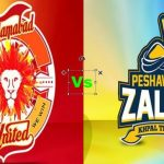 Peshawar Zalmi VS Islamabad United Live Streaming
