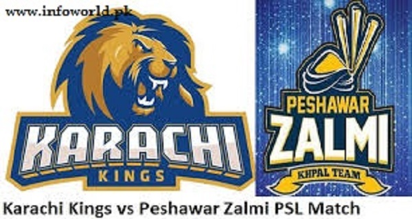 PSL Peshawar Zalmi vs Karachi Kings Live Streaming