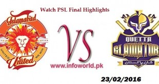 PSL Final 2016 Match Full Highlights