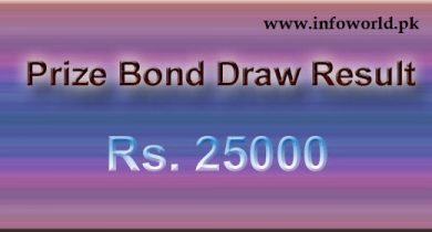 Rs 25000 Prize Bond Lahore Lucky Draw Result Online