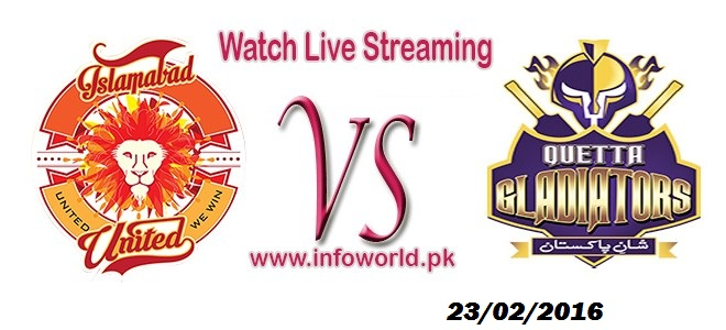 Watch PSL Final Islamabad United vs Quetta Glaiators