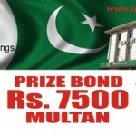 1st Feb 2016 Rs 7500 Prize Bond Lucky Draw Result