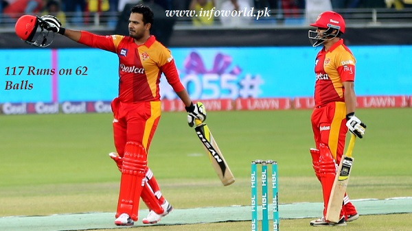 PSL Sharjeel Khan 117 Runs 62 Ball Highlights