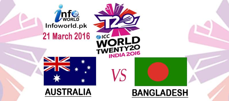 ICC WT20 2016 Australia vs Bangladesh Match Prediction