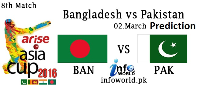 Pakistan vs Bangladesh Asia Cup T20 Match Prediction