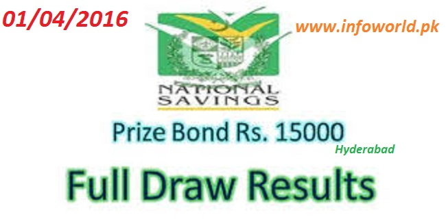 Check Prize Bond Rs 15000 Draw Result 1st April 2016