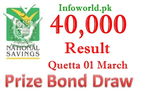 Check Prize Bond Rs 40000 Draw Result 1st March 2016