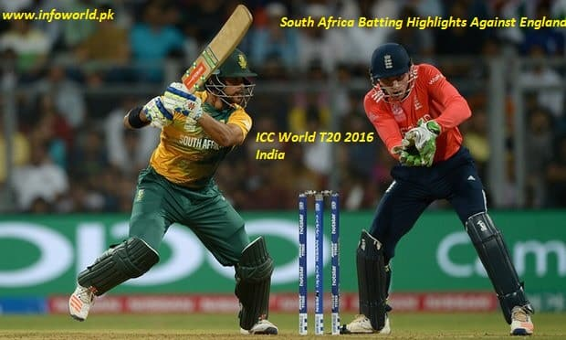18 March 2016 WT20 South Africa Batting Highlights