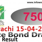 Check Prize Bond Rs 750 Draw Result 15th April 2016