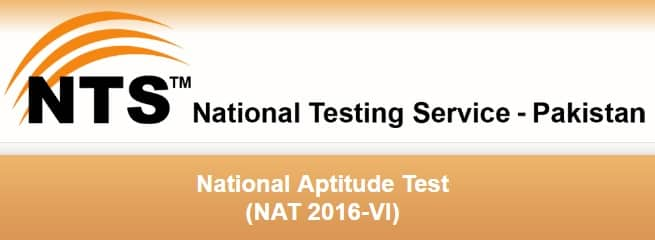 NTS National Aptitude Test NAT 2016-VI Registration