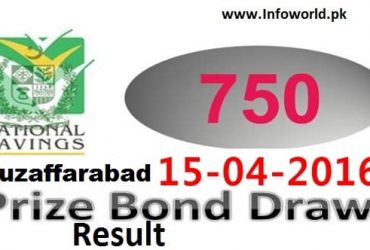 Rs 750 Prize Bond Result