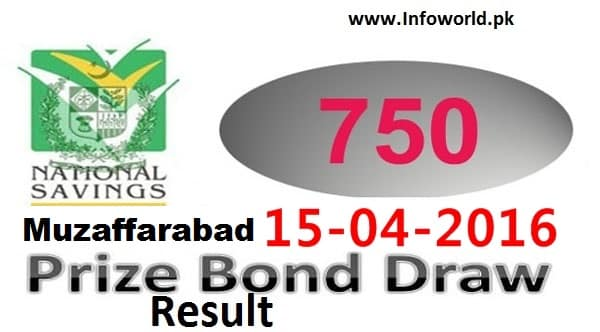 Prize Bond Rs 750 Draw Result 15th July 2016