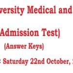 NTS Answer keys BUM&DC Admission Test 22 Oct 2016