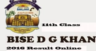 Bise DG Khan 11th Class Result 2016