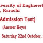 NTS Answer Keys DUET Pre Admission Test 22nd Oct