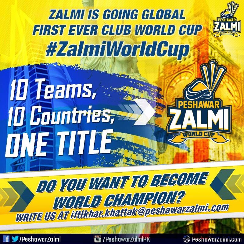 Shahid Afridi Announced Zalmi World Cup