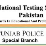 NTS Application Form Punjab Police Special Branch Jobs