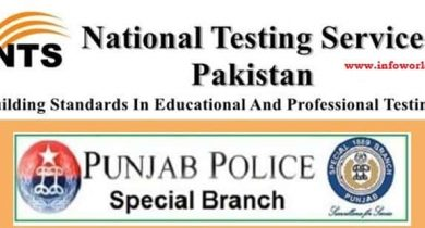 NTS Application Form Punjab Police Special Branch Jobs 2016