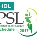 HBL PSL 2017 Schedule Time Table Venues