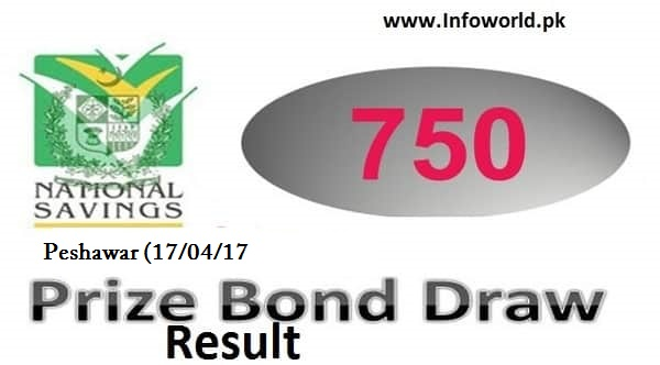 Prize Bond Rs 750 Draw Result 17th April 2017