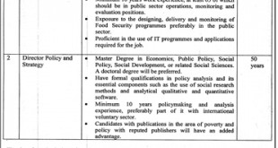 Jobs in Punjab Social Protection Authority Lahore 2017