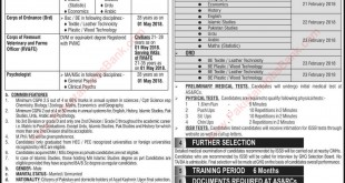 Join Pak Army as Captain Direct Short Service Regular Commission 2018