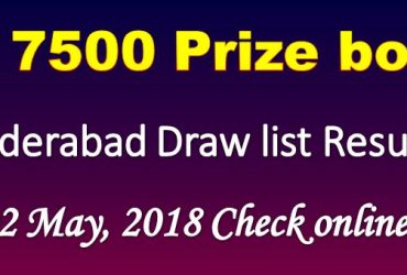 Prize Bond Draw List 7500 02 May 2018 Hyderabad